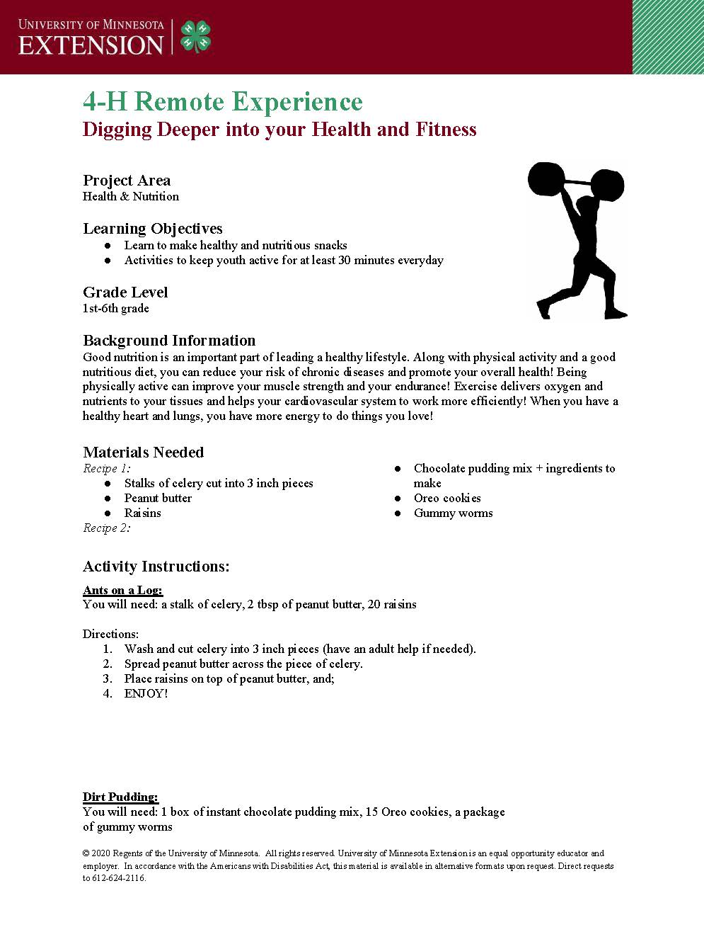 Swift County 4-H presents a fitness and fun experience.
